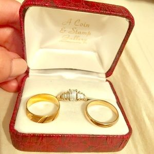 Jewelry - 14K engagement  wedding band set